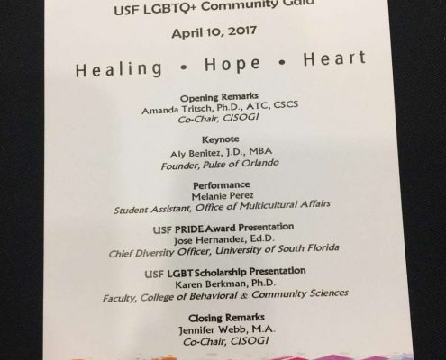 Aly Benitez, Esq. featured as Keynote Speaker at USF's 13th Annual LGBTQ+ Gala